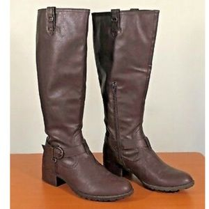 Rampage Intense Brown leather riding boot size 6